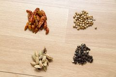 Clasified Spices Royalty Free Stock Photos