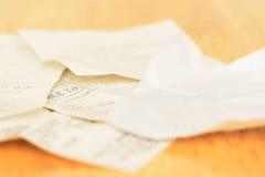 Clasifique el recibo de la facturación imagen de archivo libre de regalías