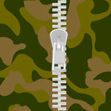 Clasp on camouflage Stock Photo