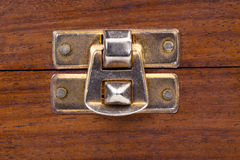 Clasp of a wooden chest Stock Photos