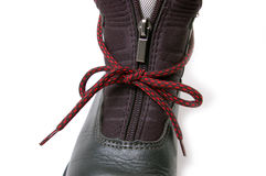 Clasp-zipper on boot. Royalty Free Stock Image