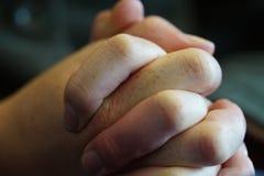 clasped руки Стоковое Изображение