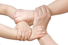 Clasped hands Stock Photography