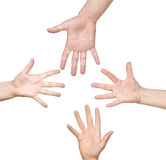 Clasped hands Royalty Free Stock Photos