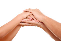 Clasped hands Stock Image