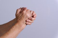Clasped hands Royalty Free Stock Image