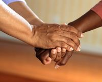 Clasped Hands, Comfort, Hands Royalty Free Stock Photos