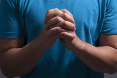 Clasped Praying Hands Royalty Free Stock Photography