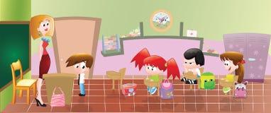 Clasroom del fumetto royalty illustrazione gratis