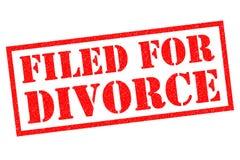 CLASSÉ POUR LE DIVORCE Photos stock