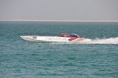 Class 1 racing in Doha Qatar Royalty Free Stock Photos