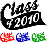 Class of 2010/eps. Logotype illustration for the school graduation class of 2010...customize colors in eps file Stock Photo