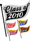 Class of 2010 Pennant/eps. Logotype illustration for the school graduation class of 2010 in a pennant shape...customize colors in eps file Stock Image