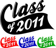 Class of 2011 vector illustration