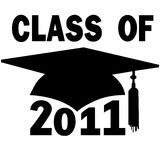 Class of 2011 College High School Graduation Cap Stock Photography