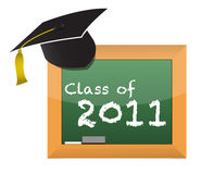 Class of 2011 school education concept. Illustration design stock illustration