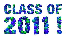 Class of 2011 sign. Graduation sign for the class of 2011 made from balloons Royalty Free Illustration