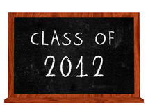Class of 2012. Text on isolated black board Royalty Free Stock Image