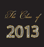 The class of 2013. Gold and diamonds design vector illustration