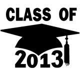 Class of 2013 College High School Graduation Cap Stock Images
