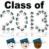 Class of 2013 Faces Stock Photo