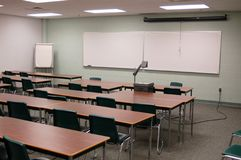Class. Room with a lack of students Royalty Free Stock Images