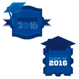 Class of 2016. An abstract illustration on Graduation Day Royalty Free Stock Photos