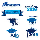 Class of 2016. An abstract illustration on Graduation Day Stock Photos
