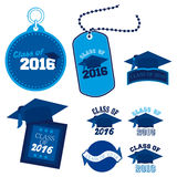 Class of 2016. An abstract illustration on Graduation Day Royalty Free Stock Photography