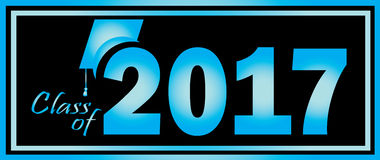 Class of 2017 Background. Blue Black Royalty Free Stock Photo