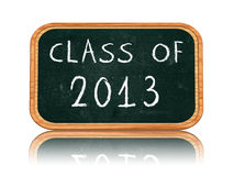 Class of 2013 on blackboard banner Royalty Free Stock Images