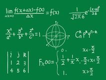 Class blackboard of mathematics Royalty Free Stock Image