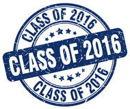 Class of 2016 blue grunge round vintage stamp Royalty Free Stock Image