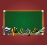 Class board on the red background Royalty Free Stock Images