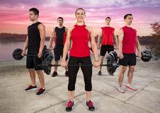 Class of body pump Royalty Free Stock Images
