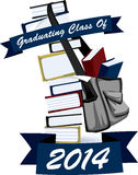 Class of 2014 Book Stack. Icon for students graduating in 2014. Available in high resolution jpg and vector format Royalty Free Stock Photos