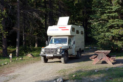 A class c motorhome from Austria visiting canada Stock Image