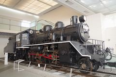 Class C56 steam locomotive at Yushukan museum. JNR Class C56 31 at Yushukan museum, in Yasukuni Shrine. This locomotive was used on the Thai-Burma Railway Stock Photography