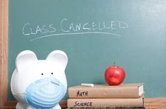 Class cancelled for ebola Stock Photo