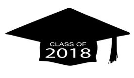 Class of 2018. A cap with the legend Class of 2018 over a white background Royalty Free Stock Photos