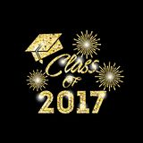 Class of 2017 card. Illustration design Vector Illustration