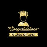 Class of 2017 card. Illustration design Stock Illustration