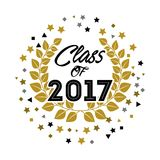 Class of 2017 card. Illustration design Royalty Free Illustration