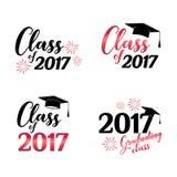 Class of 2017 card vector illustration design. Vector illustration Stock Image