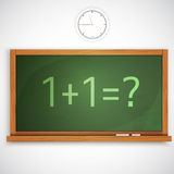 Class chalkboard. Vector illustration. Stock Images