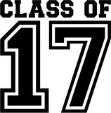 Class of 17. College vector vector illustration