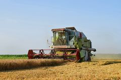 Class combine harvester royalty free stock photos