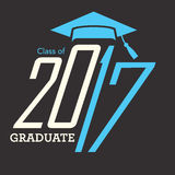Class of 2017 Congratulations Graduate Typography Royalty Free Stock Image