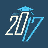 Class of 2017 Congratulations Graduate Typography Royalty Free Stock Images
