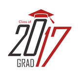 Class of 2017 Congratulations Graduate Typography Royalty Free Stock Photography